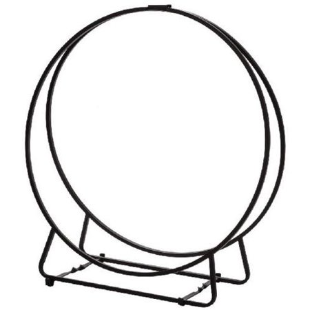 LH24-1 Black Steel Log Hoop - 24 x 9 (24 Log Hoop)