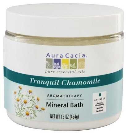 Aromatherapy Mineral Bath Tranquil Chamomile - 16 oz. (formerly Tranquility) by Aura Cacia (pack of 1)