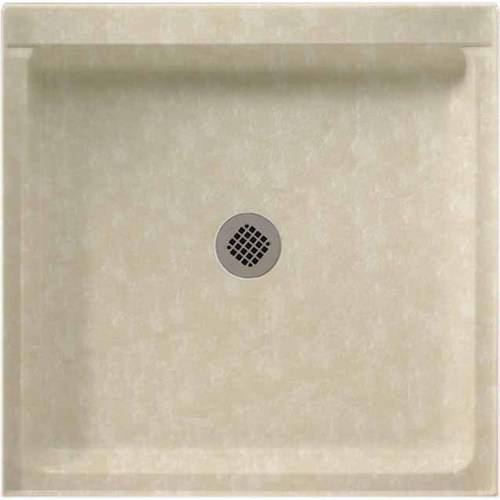 "Swan SS-3636-010 36"" x 36"" Swanstone Shower Base (Drain Included), Available in Various Colors"