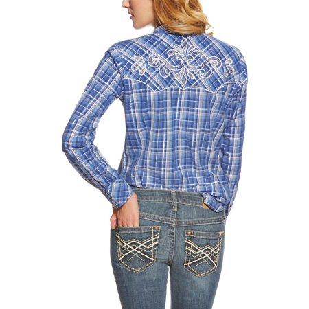 531ca179 Ariat - Ariat Women Willa Fitted Snap Shirt L - Walmart.com