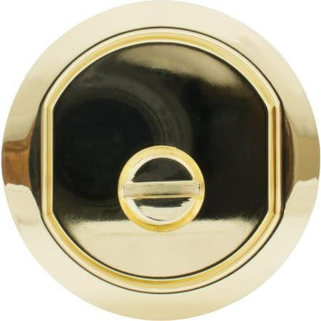 Round Pocket Door Lock Bed/Bath Latch