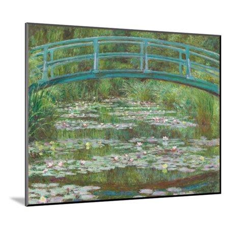 The Japanese Footbridge, 1899 Garden Floral Architecture Flower Landscape Wood Mounted Print Wall Art By Claude Monet
