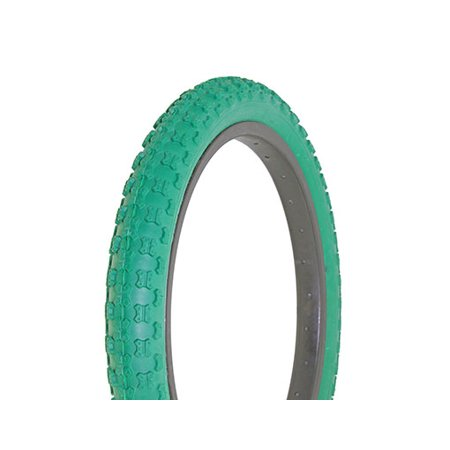 "Bike Tire Duro 18"" x 2.125"" Green/Green Side Wall HF-143G."