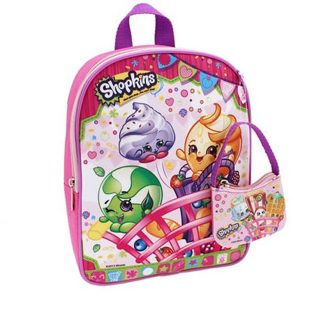 Moose Enterprise Shopkins Mini Backpack with Coin Purse