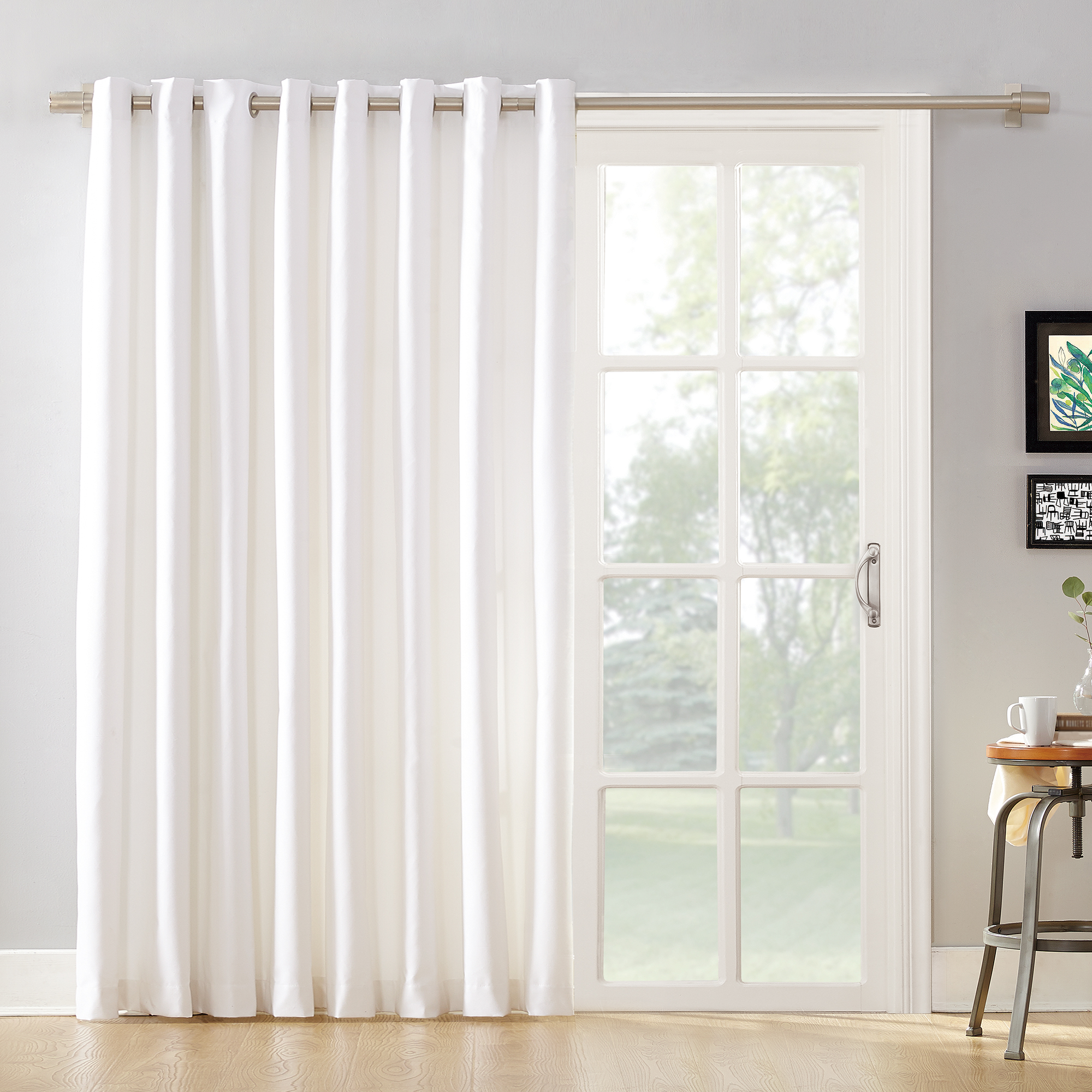 Mainstays Sliding Glass Door Thermal Lined Room Darkening Grommet Curtain Panel Walmart Com Walmart Com