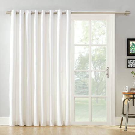 Mainstays Sliding Glass Door Thermal Lined Room Darkening Grommet Curtain Panel Curtains Vertical Blinds