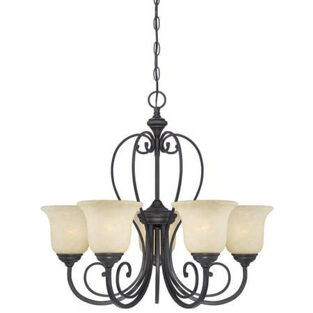 Westinghouse 6340700 Callan Five Light Indoor Chandelier, Oil Rubbed Bronze