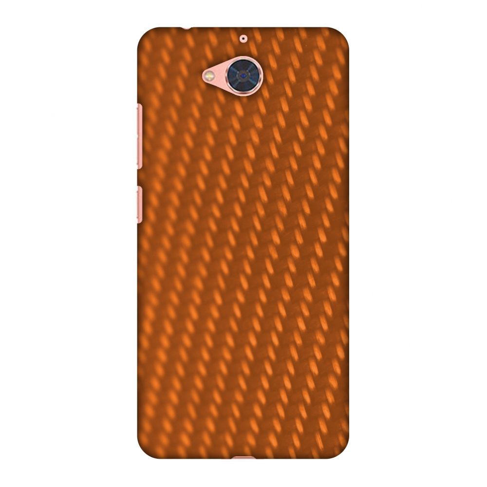 Gionee S6 Pro Case, Premium Handcrafted Printed Designer Hard Snap On Case Back Cover with Screen Cleaning Kit for Gionee S6 Pro - Carbon Fibre Redux Tangy Orange 12