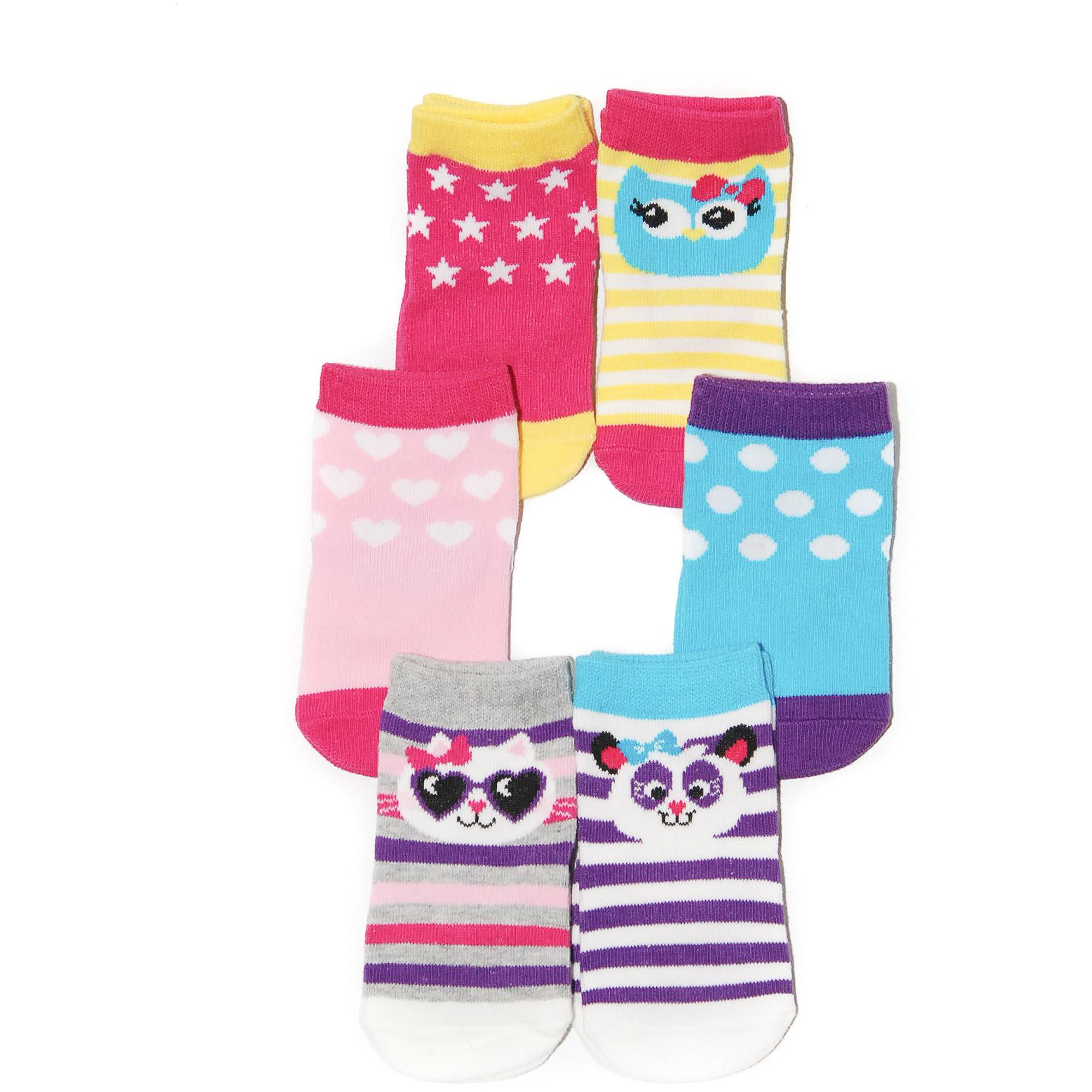 Newborn Girl Assorted Socks, 6 Pairs