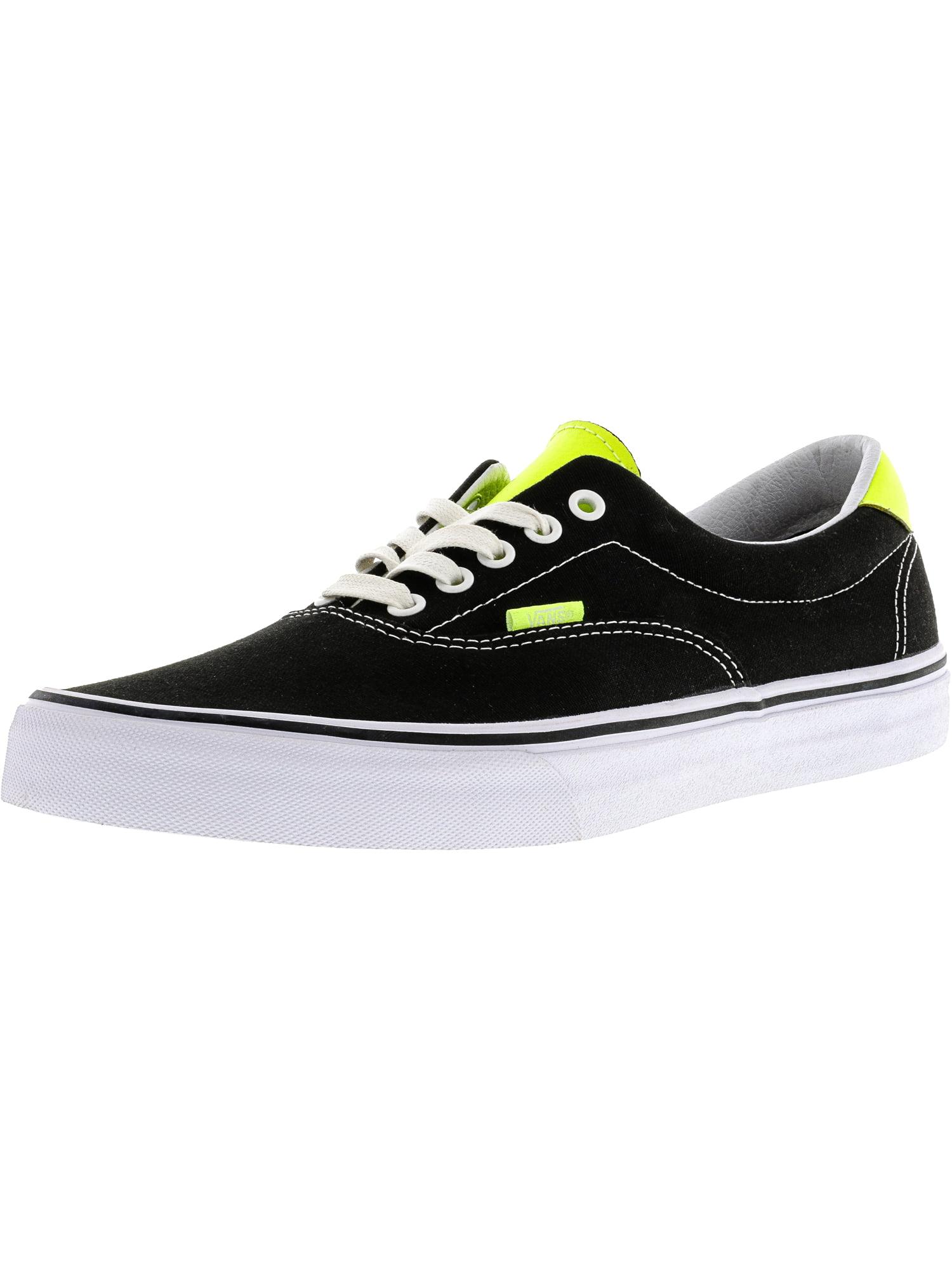 Vans Men's Era 59 Neon Leather Black / Yellow Ankle-High Canvas Skateboarding Shoe - 11.5M