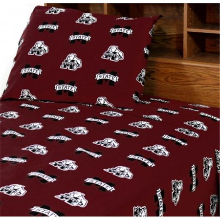 College Covers MSTSSKG Mississippi State Printed Sheet Set King - Solid - image 1 de 1