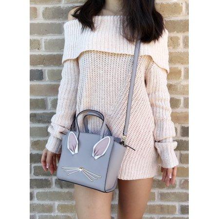 Nouveau Bag (Kate Spade Hop To It Bunny Mini Hayden Satchel Crossbody Nouveau Neutral)