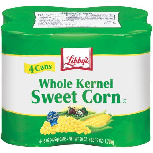 Libby's Whole Kernel Sweet Corn, 15 oz, 4 ct