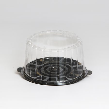 (Inline Plastics EZ Open Clear, 7 Inch Double Layer Cake Container with Dome Lid | 100/Case)