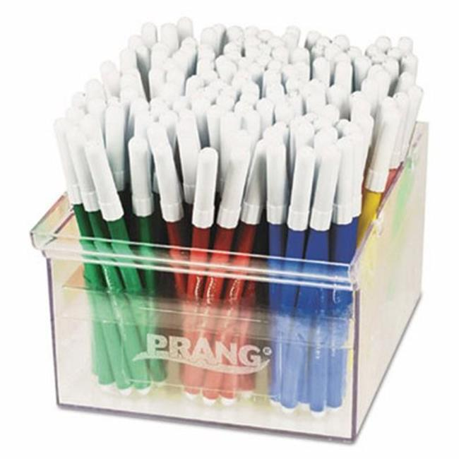 Dixon Ticonderoga 80744 Prang Markers, Fine Point, 12 Assorted Colors