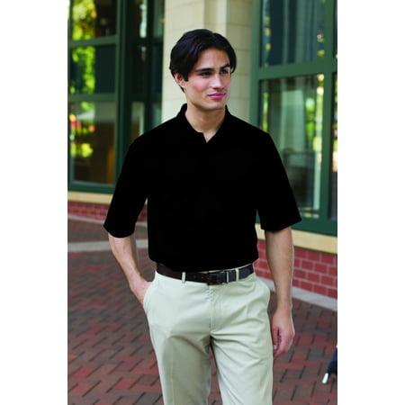 24/7 360 Men's 100% Polyester Polo Shirt-Black-S