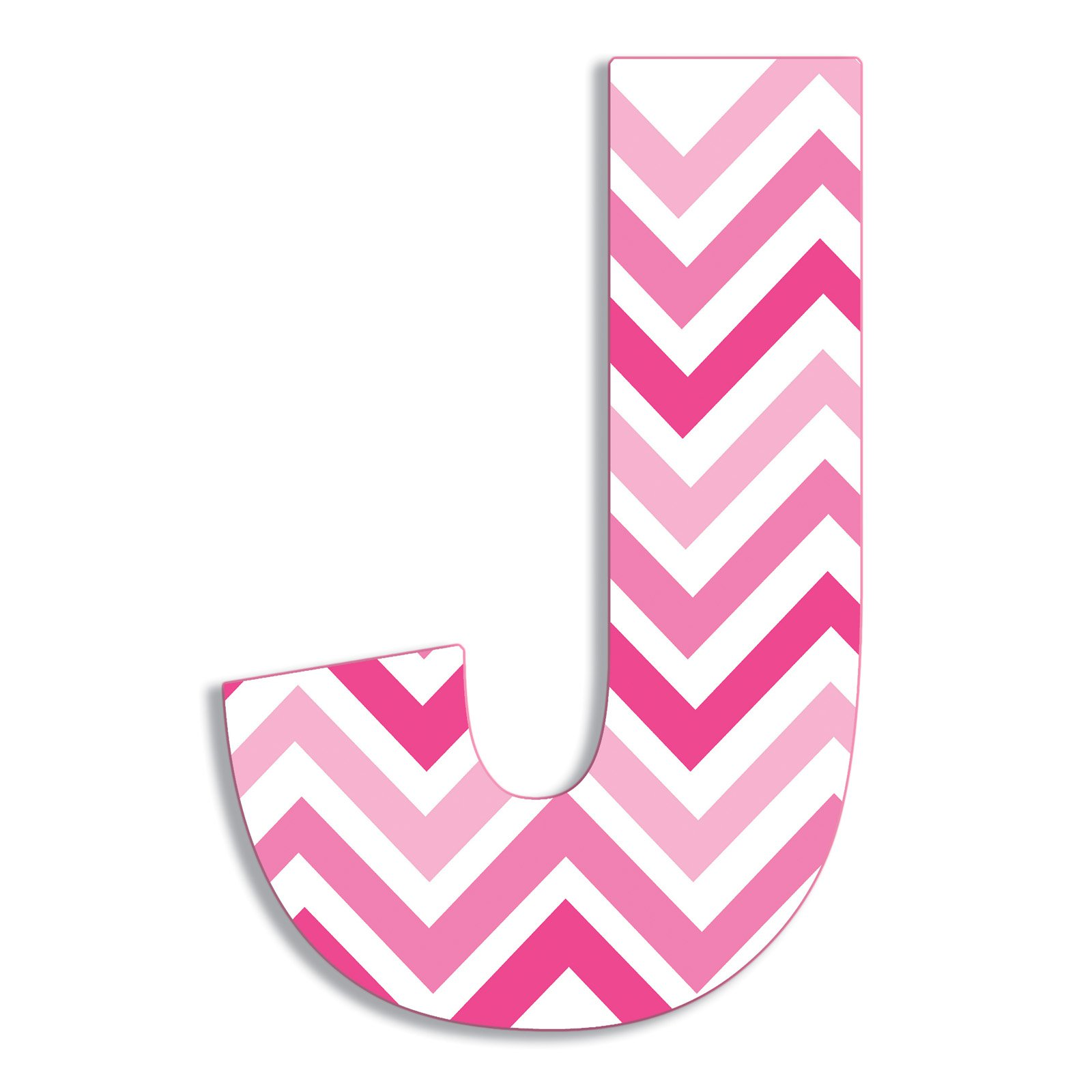 The Stupell Home Decor Collection Stupell Industries Oversized Pink Chevron Hanging Initial