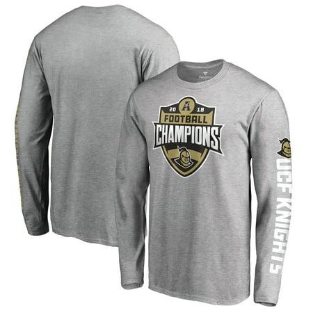 UCF Knights Fanatics Branded 2018 AAC Football Champions Long Sleeve T-Shirt - Heather Gray - Ucf Halloween