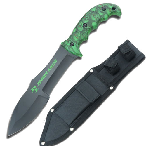 Zombie Killer Survival Hunter Knife Green
