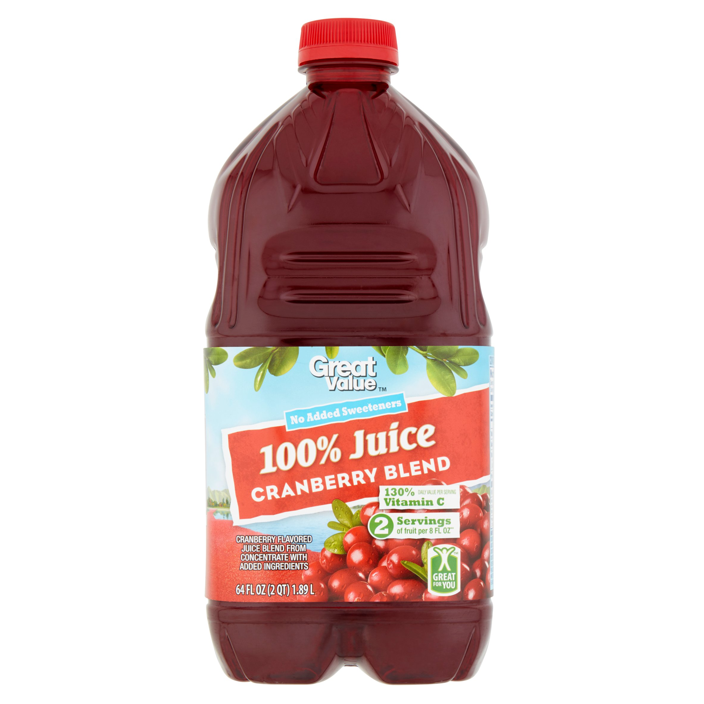 Great Value 100% Cranberry Juice, 64 Fl Oz by Wal-Mart Stores, Inc.