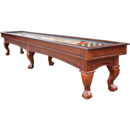 Playcraft Charles River 14' Pro-Style Shuffleboard Table, Chestnut 14' Tiffany Style Table