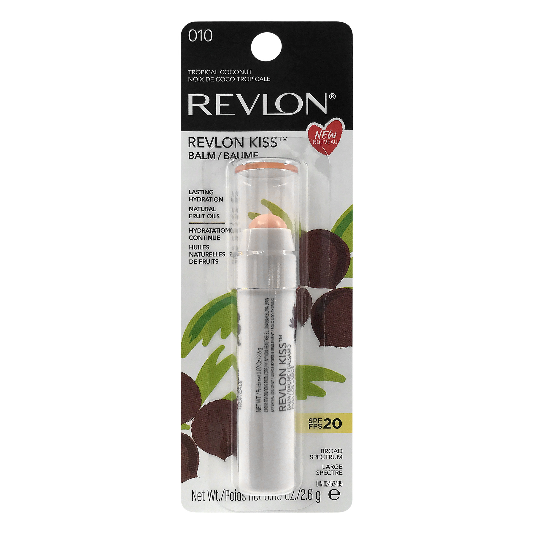 Revlon Kiss Lip Balm, Tropical Coconut