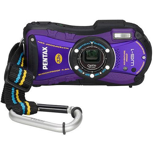 "Pentax Optio WG-1 14MP Purple Digital Camera w/ 5x Optical Zoom, 2.7"" LCD Display"