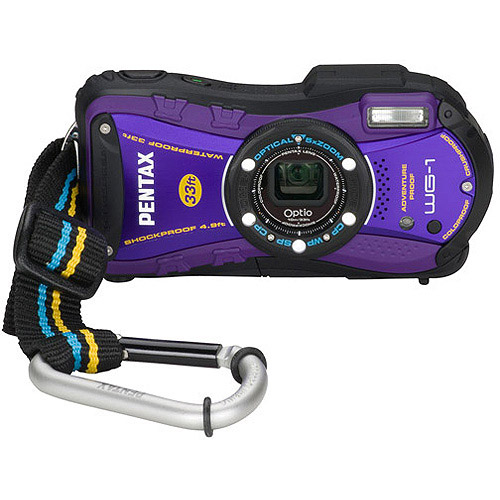 "Pentax Optio WG-1 14MP Purple Digital Camera w/ 5x Optical Zoom, 2.7"" LCD Display"
