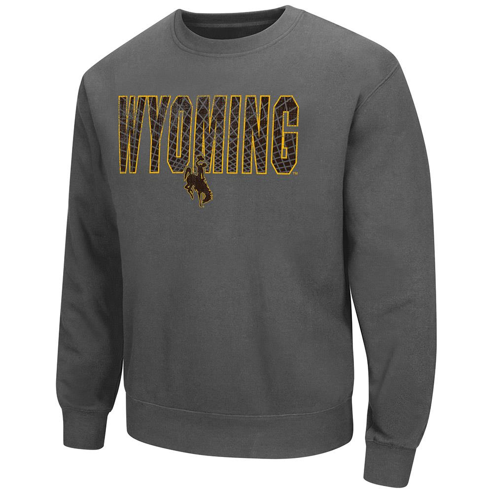 Mens Wyoming Cowboys Crew Neck Sweatshirt L by Colosseum