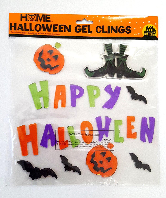 halloween window clings (happy halloween gel clings) - walmart