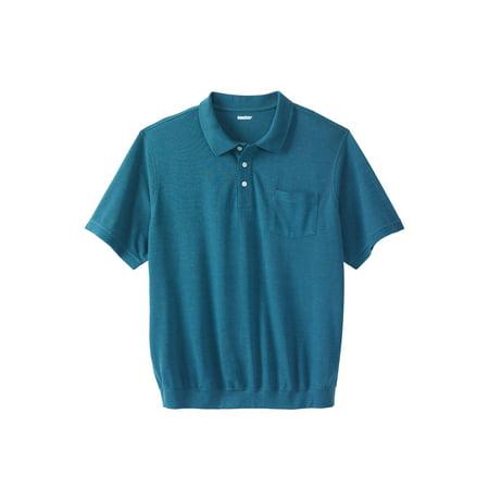 Kingsize Men's Big & Tall Banded Bottom Pocket Polo Shirt