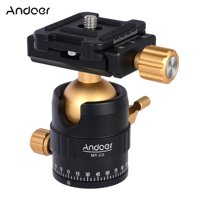 Andoer MT-C2 Compact Size Panoramic Tripod Ball Head Adapter 360° Rotation Aluminium Alloy with Quick Release Plate