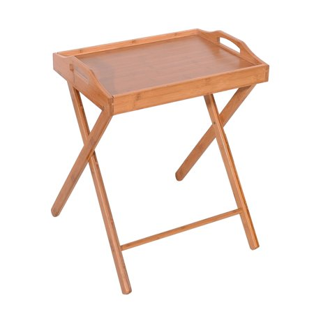 Zimtown Wooden Folding Dinner Table Tv Tray Coffee Stand Serving