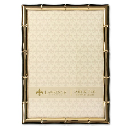 5x7 Gold Metal Picture Frame with Bamboo Design