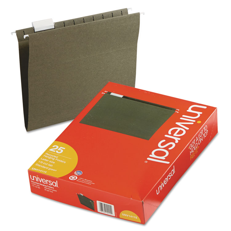 Universal Hanging File Folders, 25/Box