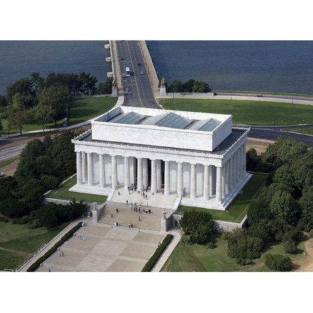 canvas print mall building aerial lincoln memorial national stretched canvas 10 x (Memorial Mall)