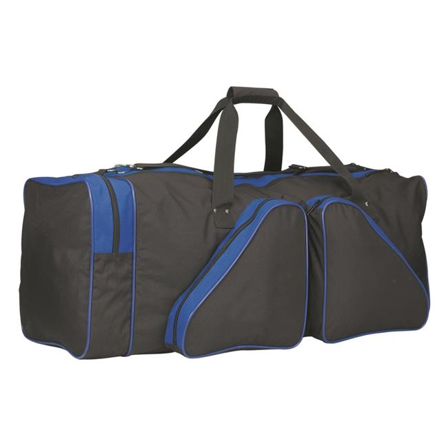 Debco SP876 40 in. Extra Large Hockey Bag Black with Royal Highlights 6 Pack by Debco