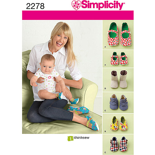 Simplicity Pattern Shoes, All Sizes