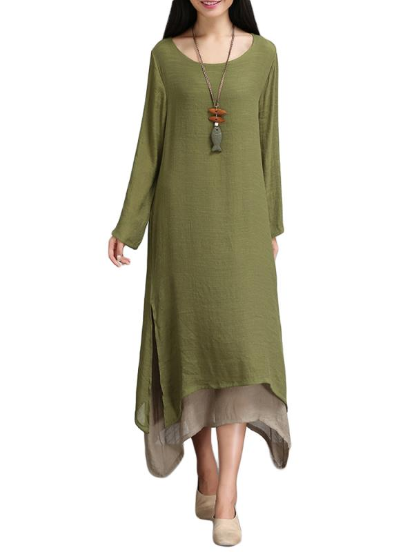 Womens Dresses On Clearance Long Sleeve Crew Neck