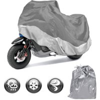 Motorcycle Cover Waterproof Outdoor Motorbike All-Weather Protection, Small (72 Inch)