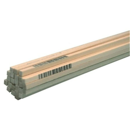 Midwest Products 4044W Basswood Strip, 24 in L, 1/8 in W, 1/8 in H 48 - 24 Basswood Strip