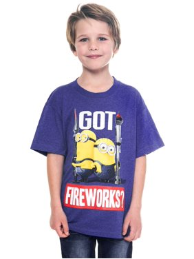 Despicable Me Minions Fourth July 4th T-Shirt Got Fireworks (Big Boys)