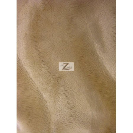 Velboa Faux Fake Fur Solid Wavy Short Pile Fabric / Camel / Sold By The (Camel Fabric)