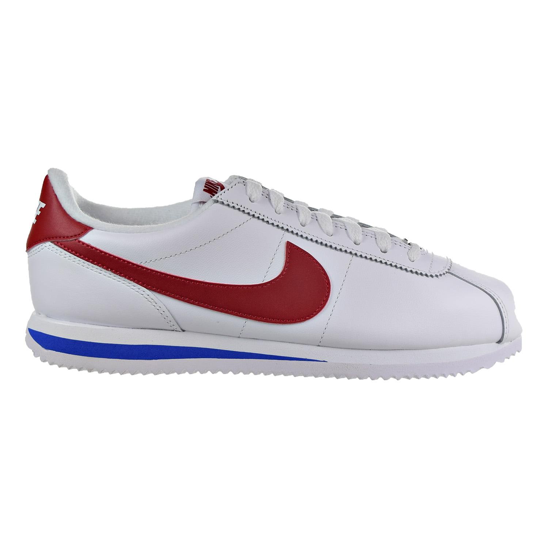 Mens Nike Cortez Basic Leather OG Forest Gump White Varsity Red Royal by Nike