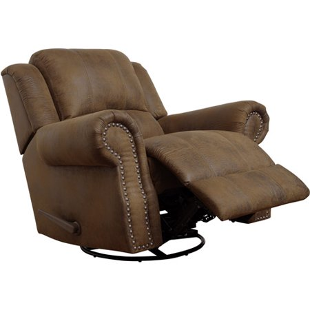 Coaster Company Sir Rawlinson Collection Rocker Recliner with Swivel, Brown