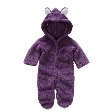 Padded Coveralls (Newborn Baby Girls Boys Long Sleeve Hooded Climbing Romper Suits Lovely Coverall Animal Style Thick Warm Padded Clothes )