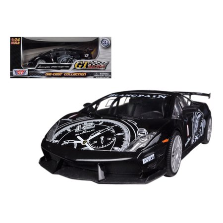 Lamborghini Gallardo LP560-4 Black Super Trofeo GT Racing 1/24 Diecast Car Model by Motormax