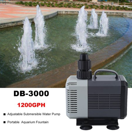 Ultra Silent Aquarium Submersible Pump 1200GPH Adjustable