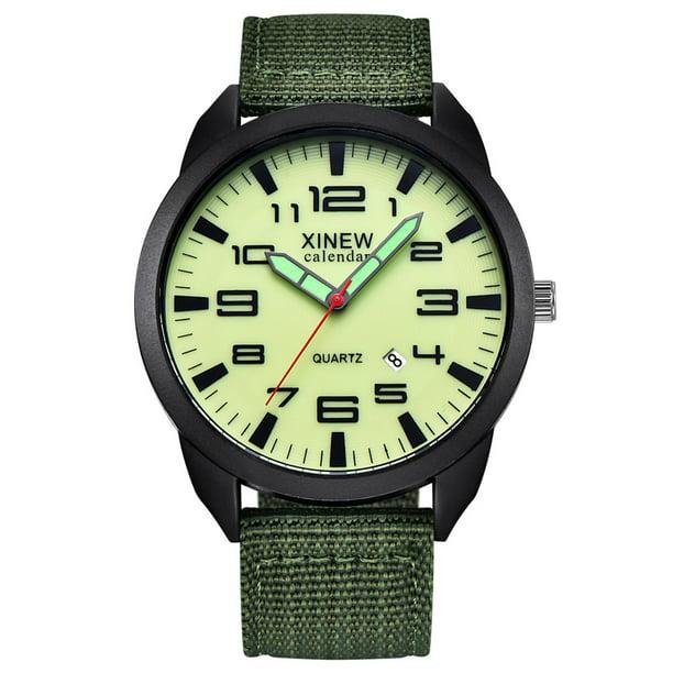 Men's Military Analog Sport Army Canvas Wrist Watch
