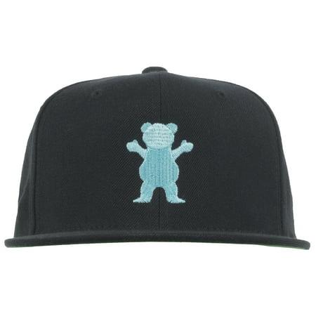 54d535defde GRIZZLY GRIPTAPE - Grizzly Griptape Bear Starter Snapback Hat Headwear Cap  Lid Skatewear Mens Black - Walmart.com